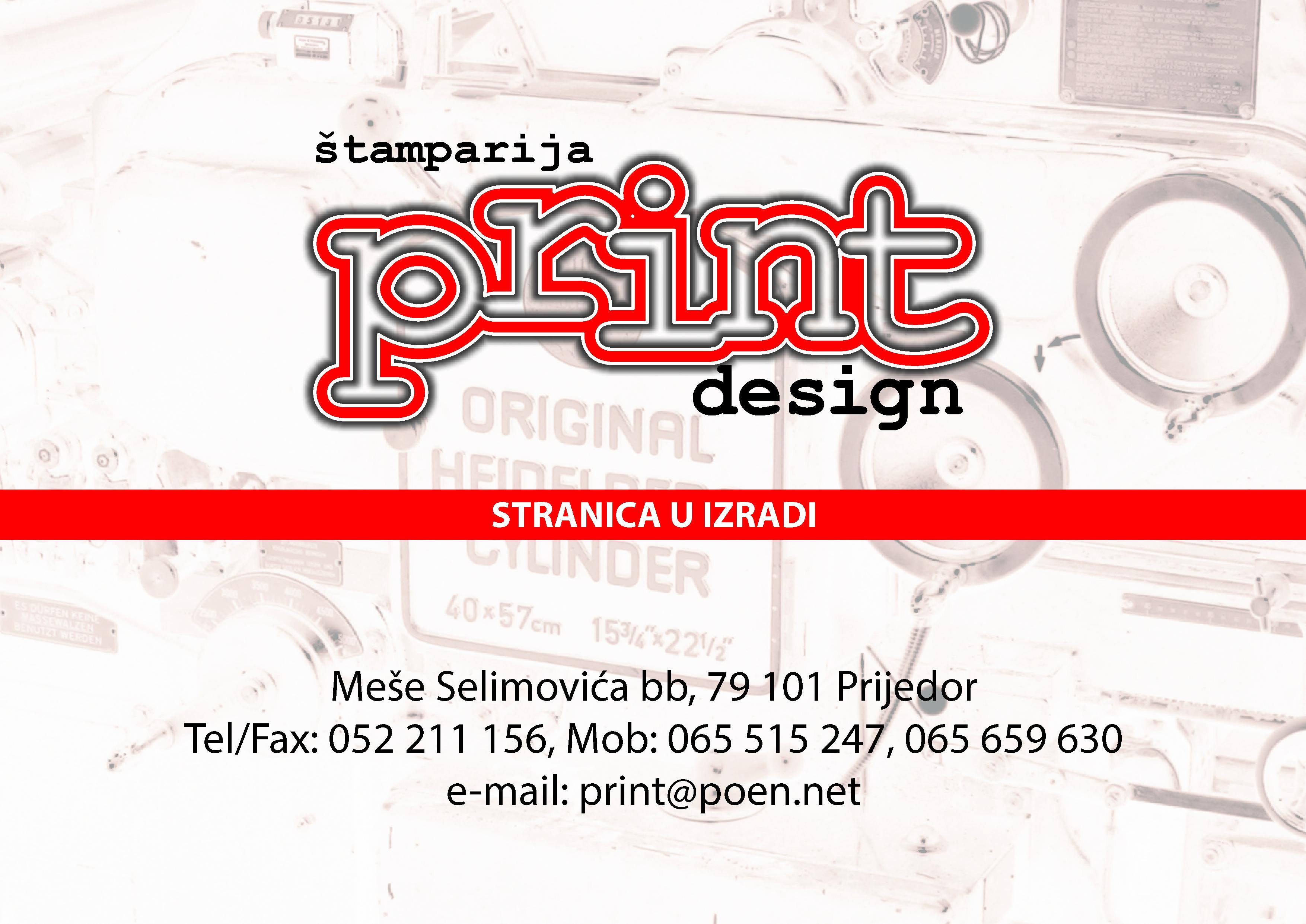 Print design - Prijedor